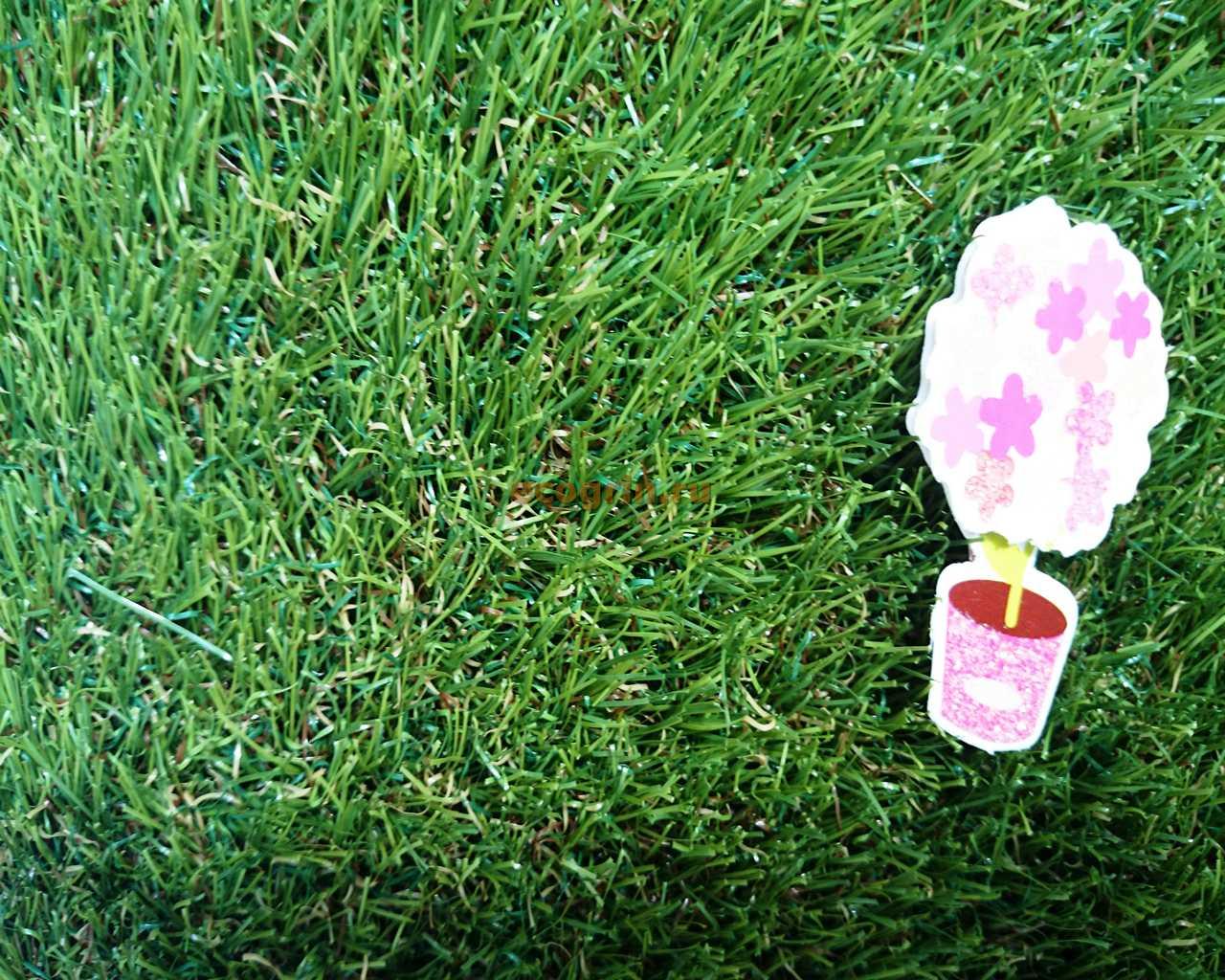 Искусственная трава для поделки своими руками 25